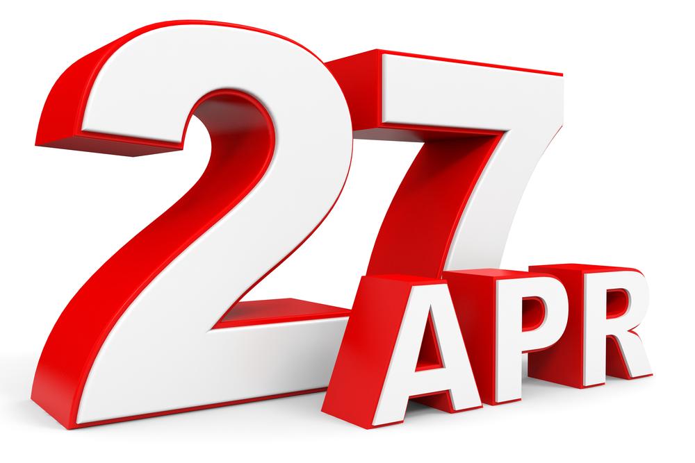 4月27日、今日は何の日??