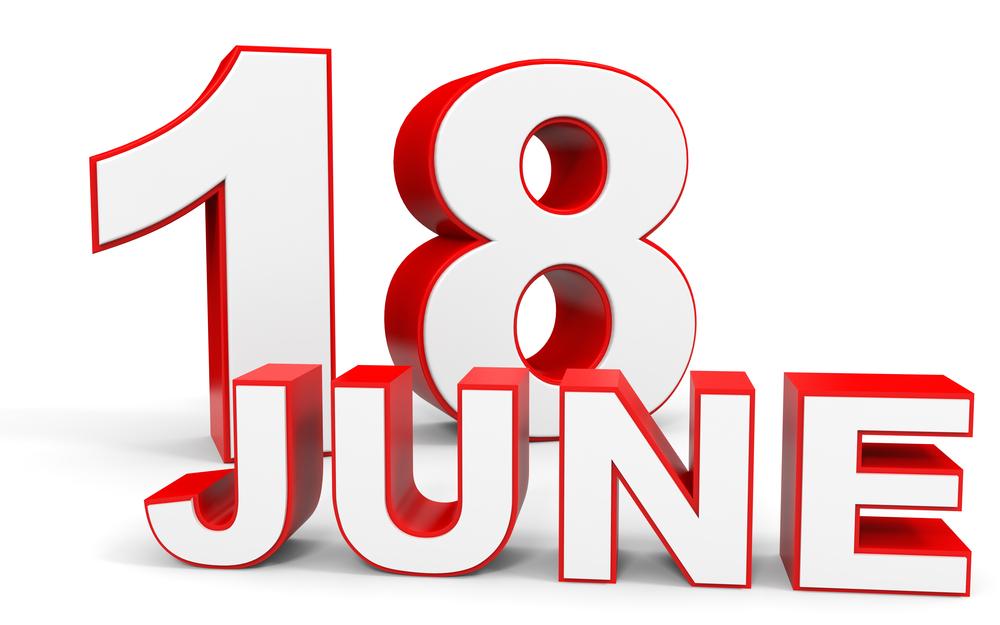 6月18日、今日は何の日??