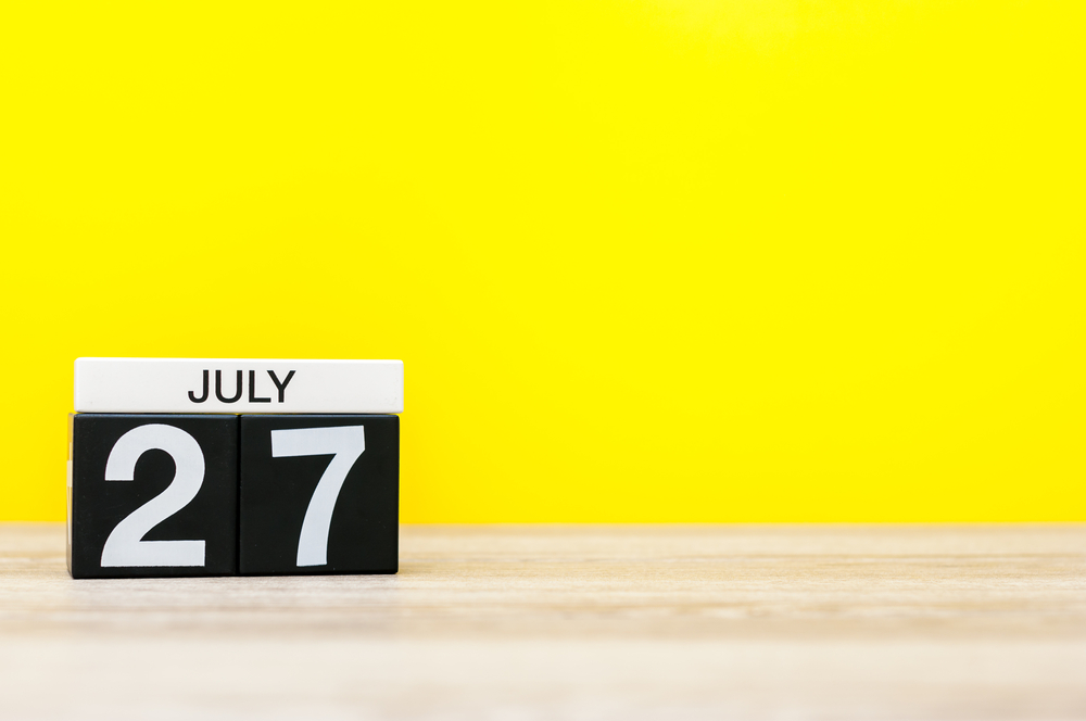 7月27日、今日は何の日??