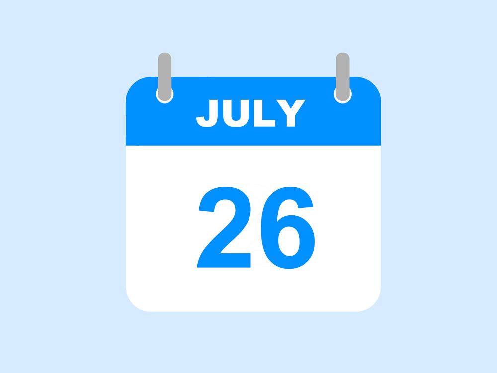 7月26日、今日は何の日??
