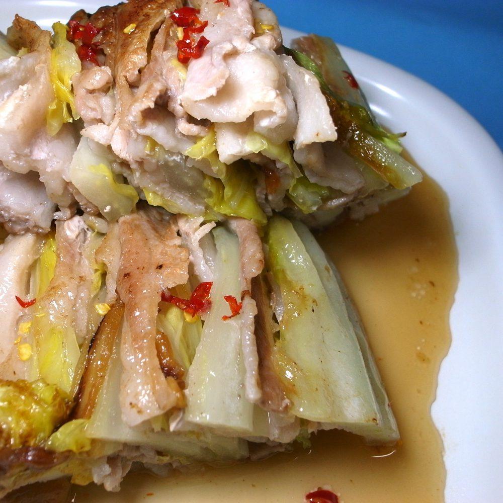 白菜と豚バラの重ね焼き