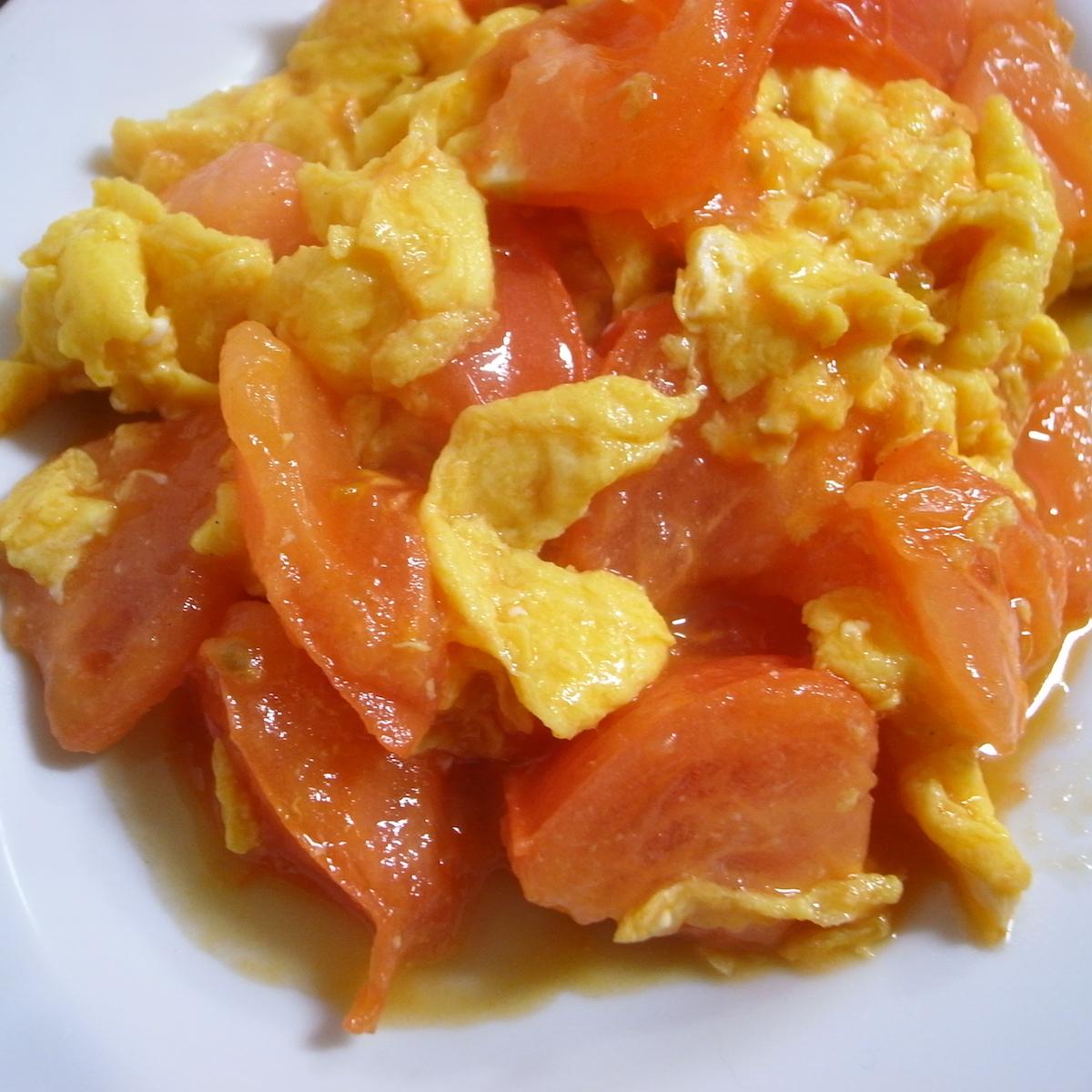 モテる男の自炊テクーートマトと卵の中華炒めーー