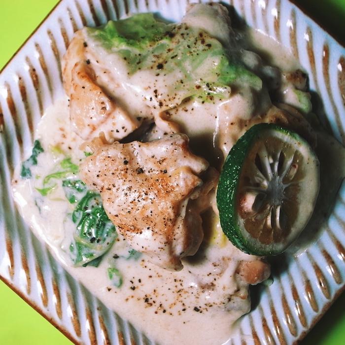 モテる男の自炊テクーー白菜と鶏肉のゆずクリーム煮ーー